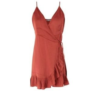 NWT Free People All My Love Wrap Slip - Rosewood
